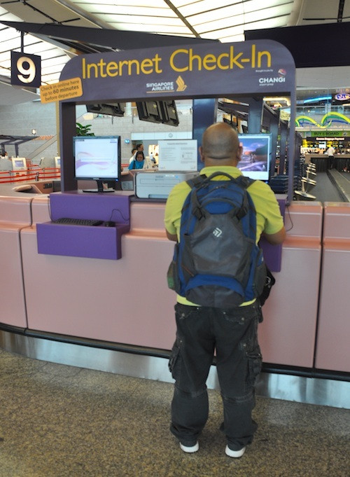internet check-in area in changi airport