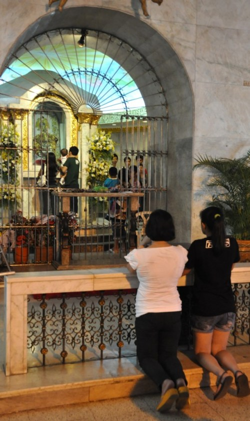 Inside Basilica of Santo Niño in Cebu