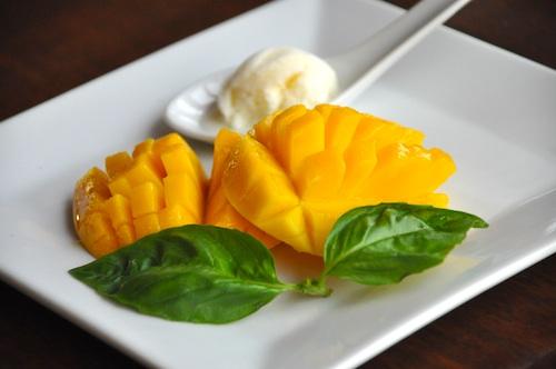 Guimaras Mango with Italian Gelato