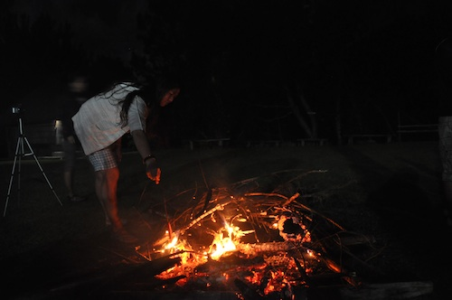 Bonfire in Banaue