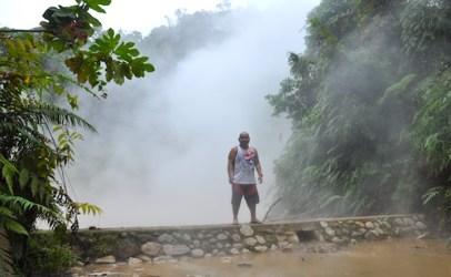 Melo Villareal beside the Lake