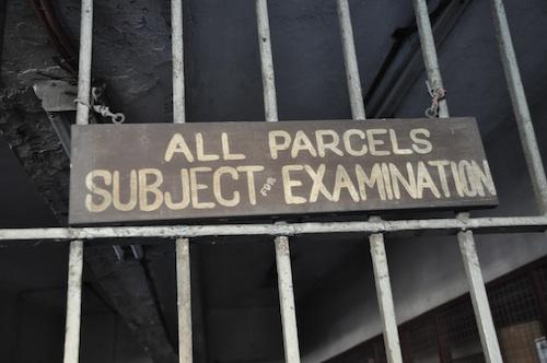 Parcel Examination Area