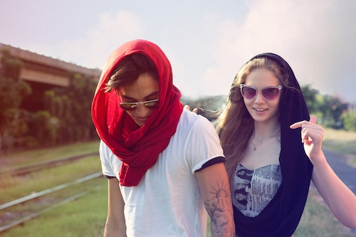 Loop scarf manila