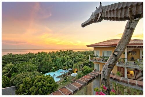 Sunset in Amarela Balcony