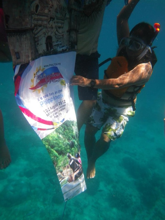 Philippine Travel Mart Banner Underwater by Erwin de Leon