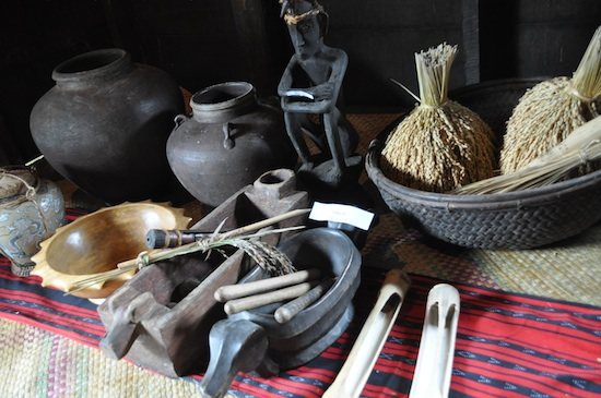 Antique Ifugao house wares donated by Locals