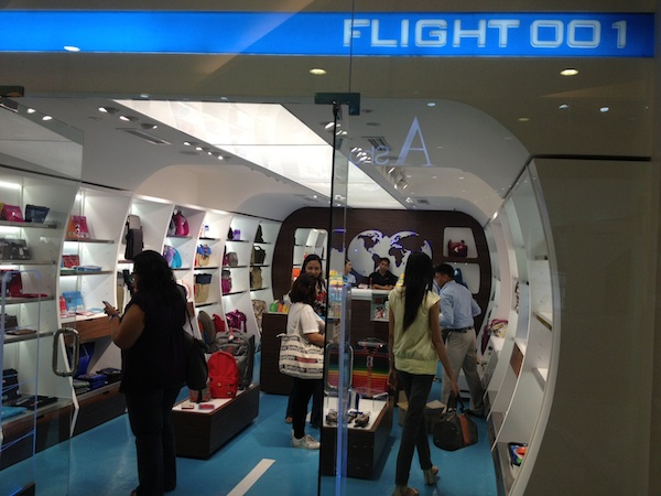 Flight 001's first store in Manila