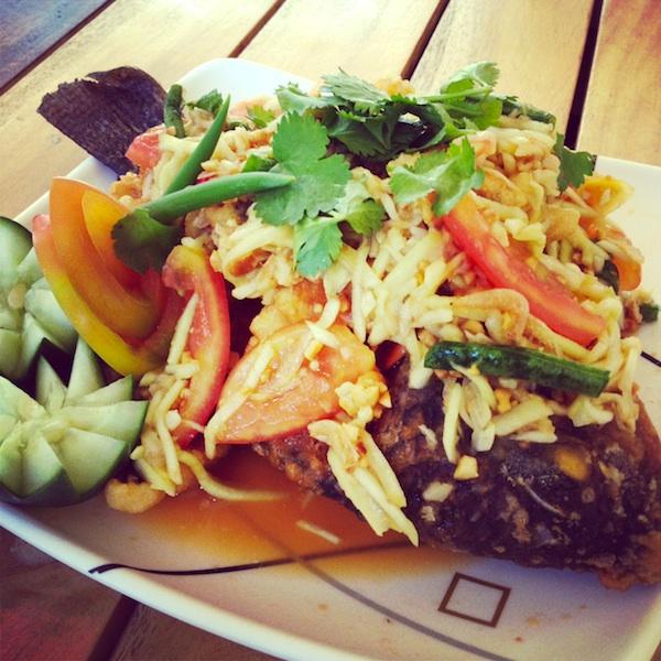 Crispy Tilapia in Mango Salad