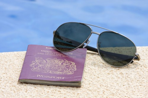 Well Used Passport and Sunglasses
