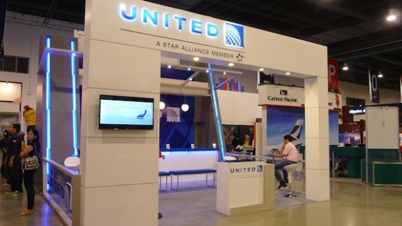 Its my first time to see United Airlines Booth