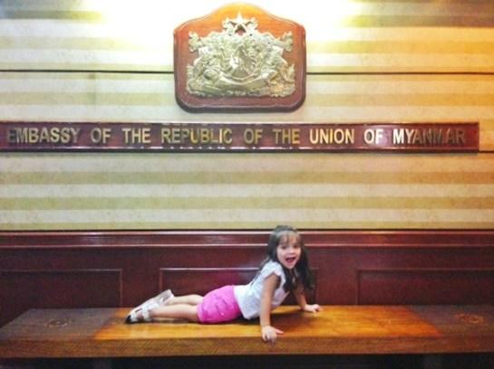 Luna at the Myanmar Embassy