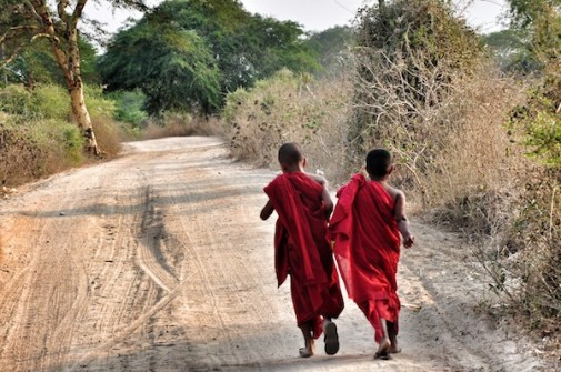 Novice Monks in Bagan