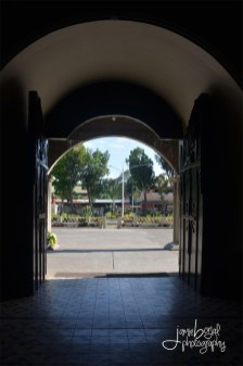 The Plaza taken from the inside of the church