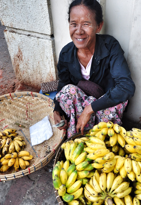 Banana Vendor in Yangon