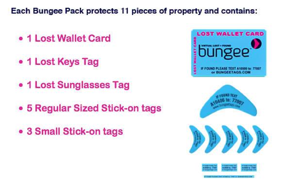 Bungee Travel Tags