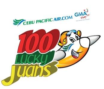 Cebu Pacific 100 Lucky Juans Promo