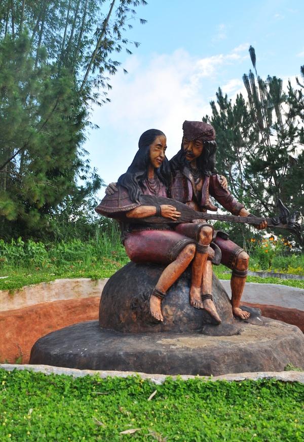 Sculptures near Kublai's Agong House