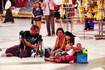Melo Monette Gay and Luna in Shwedagon Pagoda