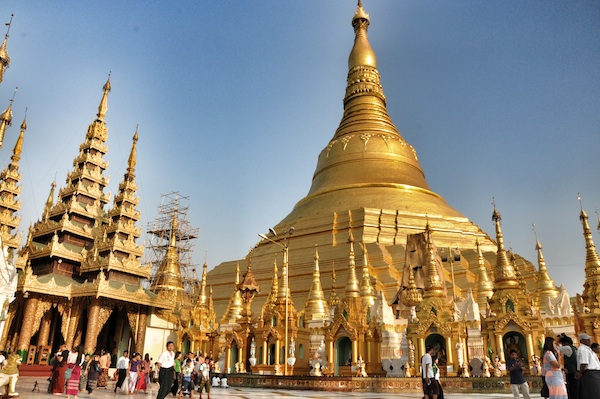 Swedagon Pagoda in the Afternoon