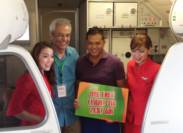 Winner of One Free Flight via Zest Air