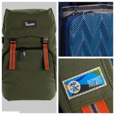 A camera bag with a Macbook sleeve