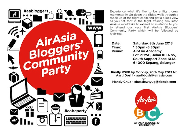 AirAsia Bloggers Community Party in Kuala Lumpur