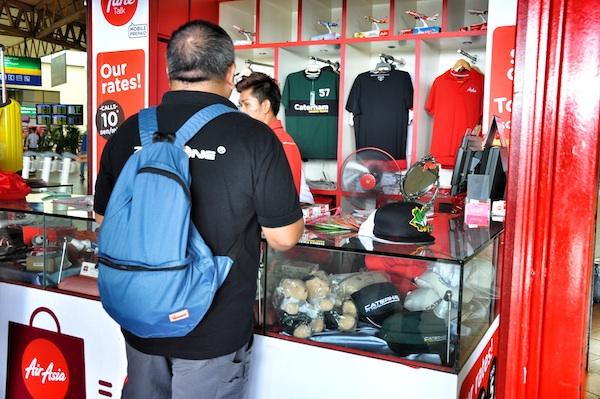 Melo Villareal at AirAsia Mega Store in Kuala Lumpur LCCT