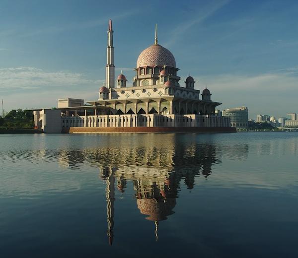 Pink Mosque in Putrajaya Malaysia