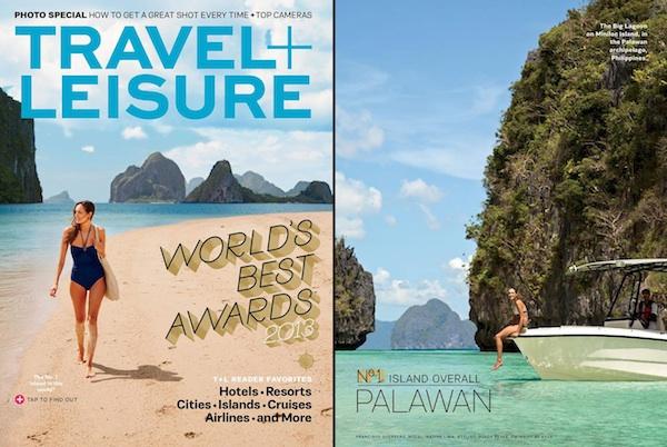Travel and Leisure Magazine features El Nido Resorts Palawan