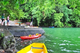 Kayaking in Bulusan Lake