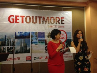Pia and Saab Magalona hosting BPI GetOutMore Event