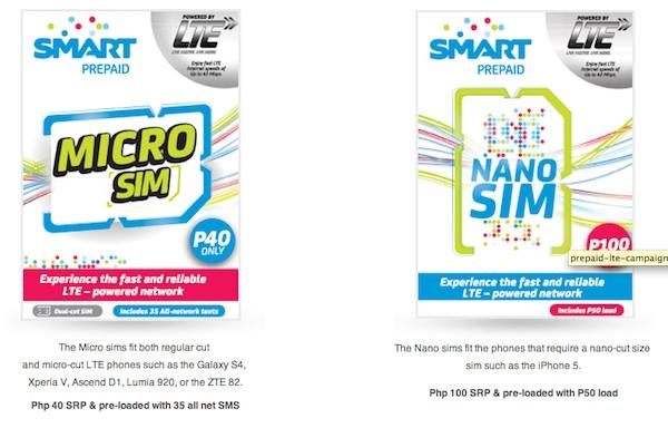Smart Prepaid LTE Micro and Nano Sim Cards