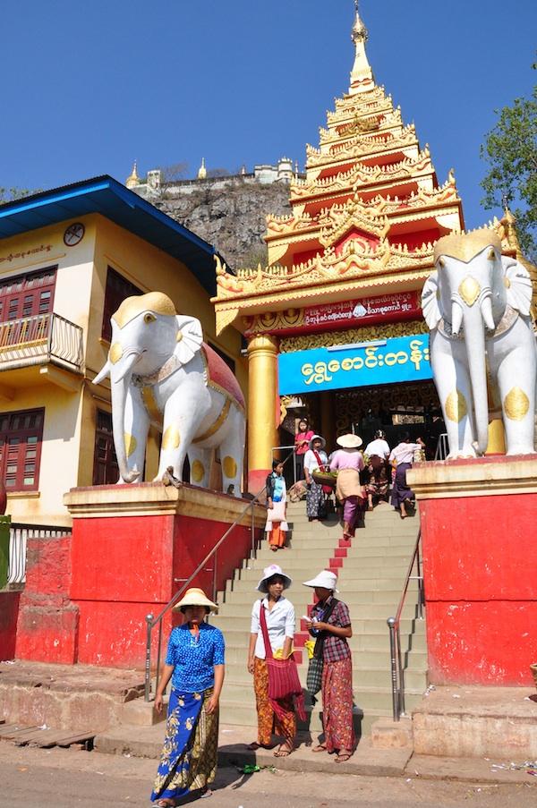 Burmese visiting Temples