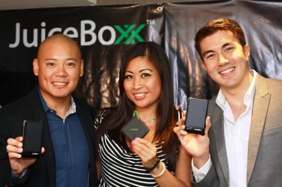 DJ Tony Toni, JuiceBoxx COO Carol Lee, Luis Manzano