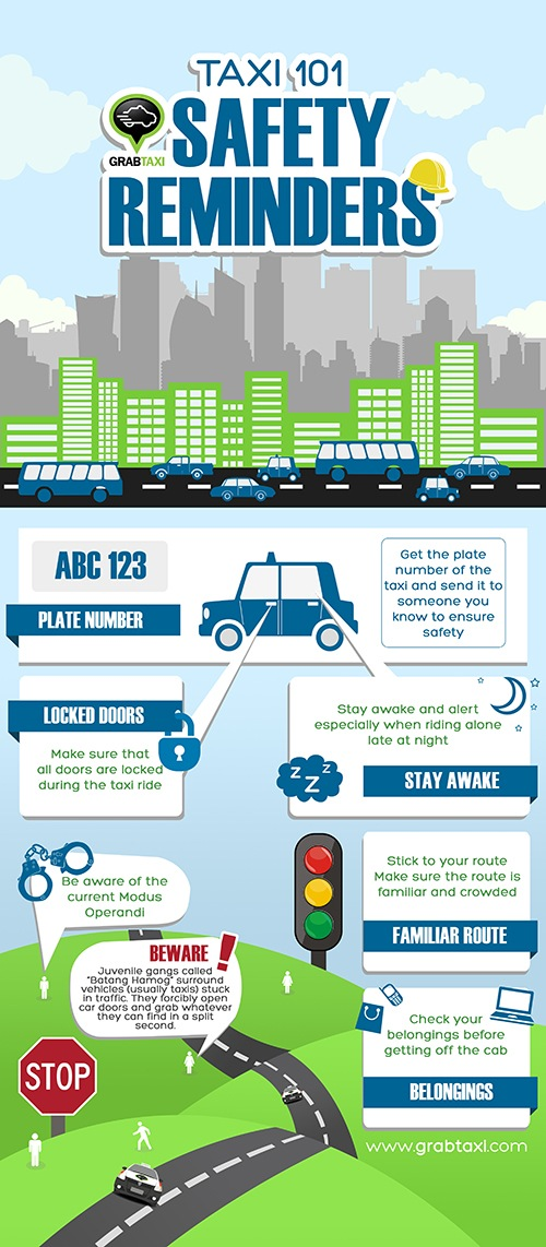 Taxi Safety Reminders from GrabTaxi