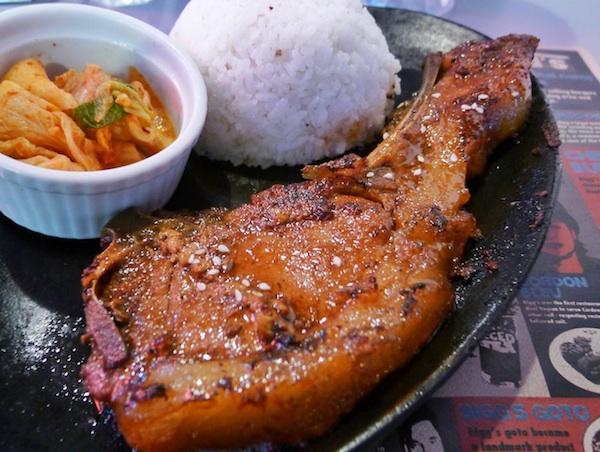 Korean Pork Chop with Kimchi
