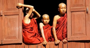 Novice Monks in Myanmar