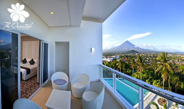 Suite Room facing Mayon Volcano (photo courtesy of Oriental Hotel Legaspi