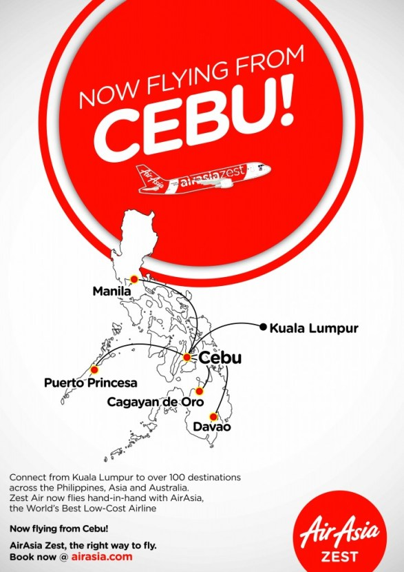 AirAsia Zest is now flying from Cebu