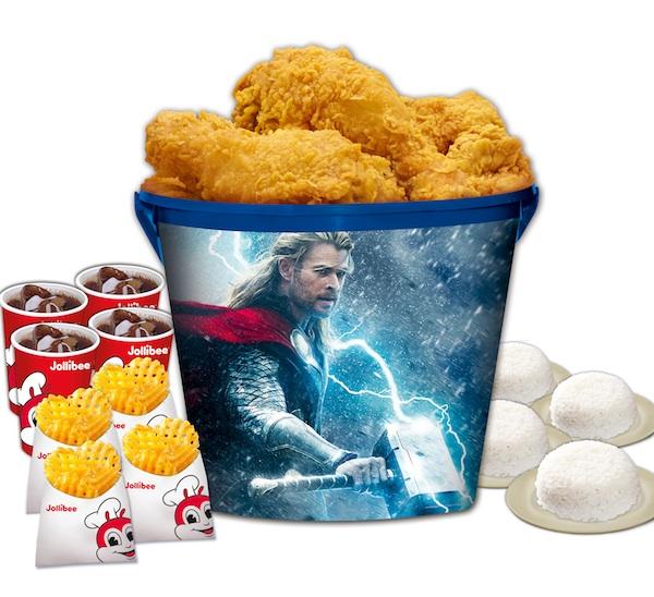 Jollibee's Chickenjoy Thor Bucket Treats
