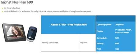Smart Tablet Gadget Plus Plan 699