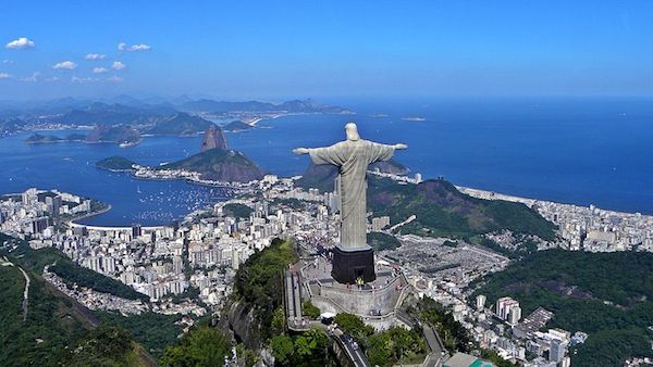 Christ the Redeemer at the top of Corcovado Mountain (photo by Wikipedia)