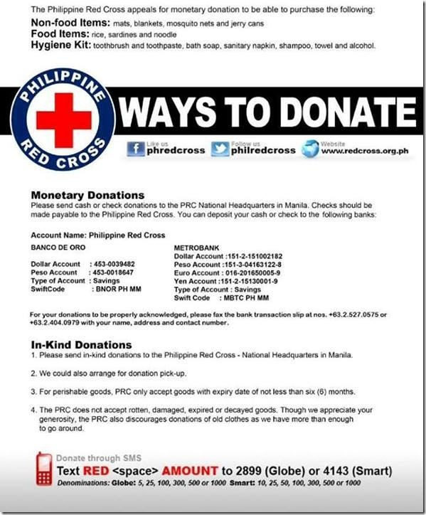 Donate to Philippine Red Cross to help Typhoon Yolanda Victims