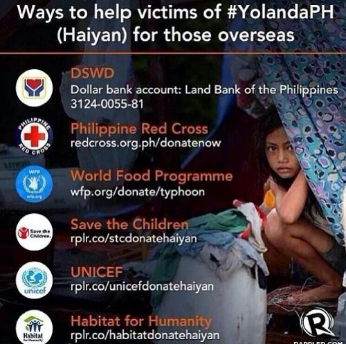 Ways to Help the Typhoon Haiyan : Yolanda Victims