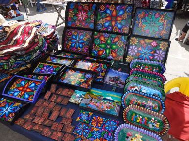Hand painted crafts at the Otavalo Artisan Market
