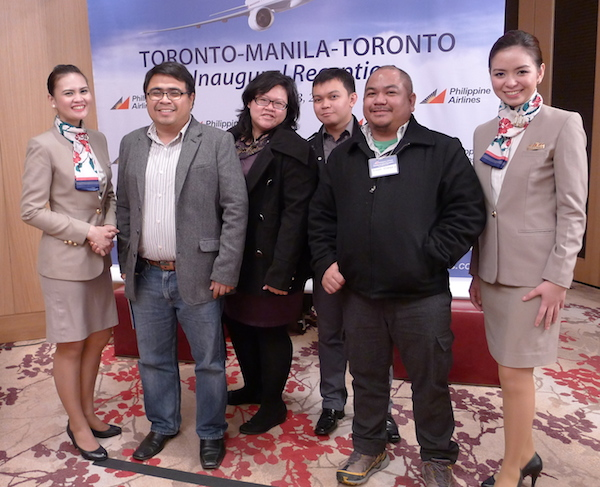 Filipino Travel Bloggers in Toronto Canada courtesy of Philippine Airlines
