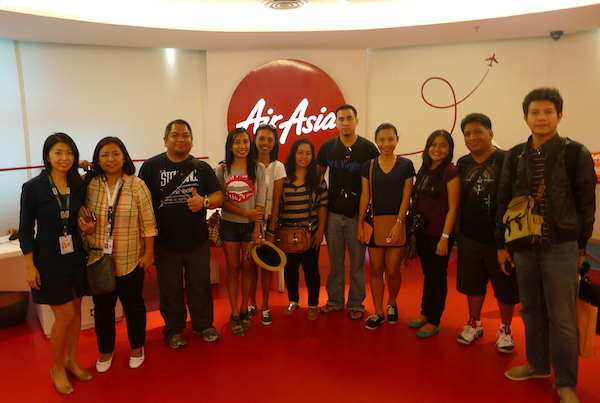 Pinoy Travel Bloggers in AirAsia Head Office in Kuala Lumpur Malaysia