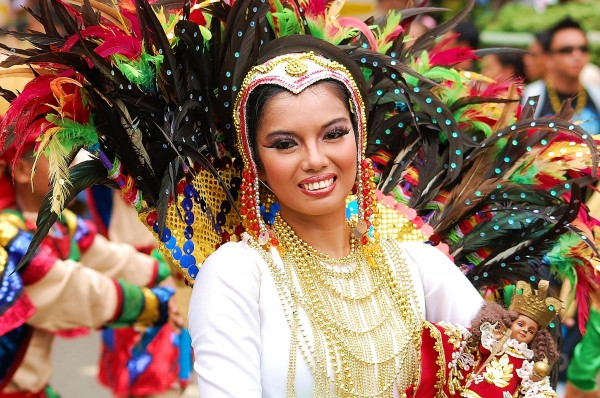 A woman during the Sinulog Festival