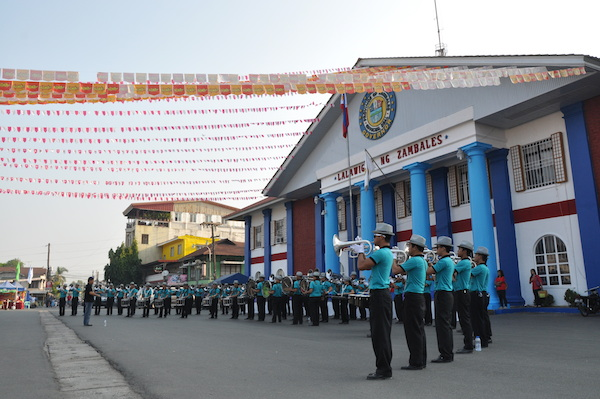 Marching Band in front of Zambales Capitol