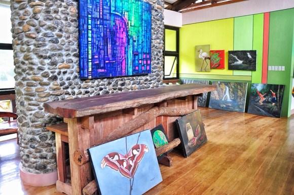Paintings inside Artist's Village